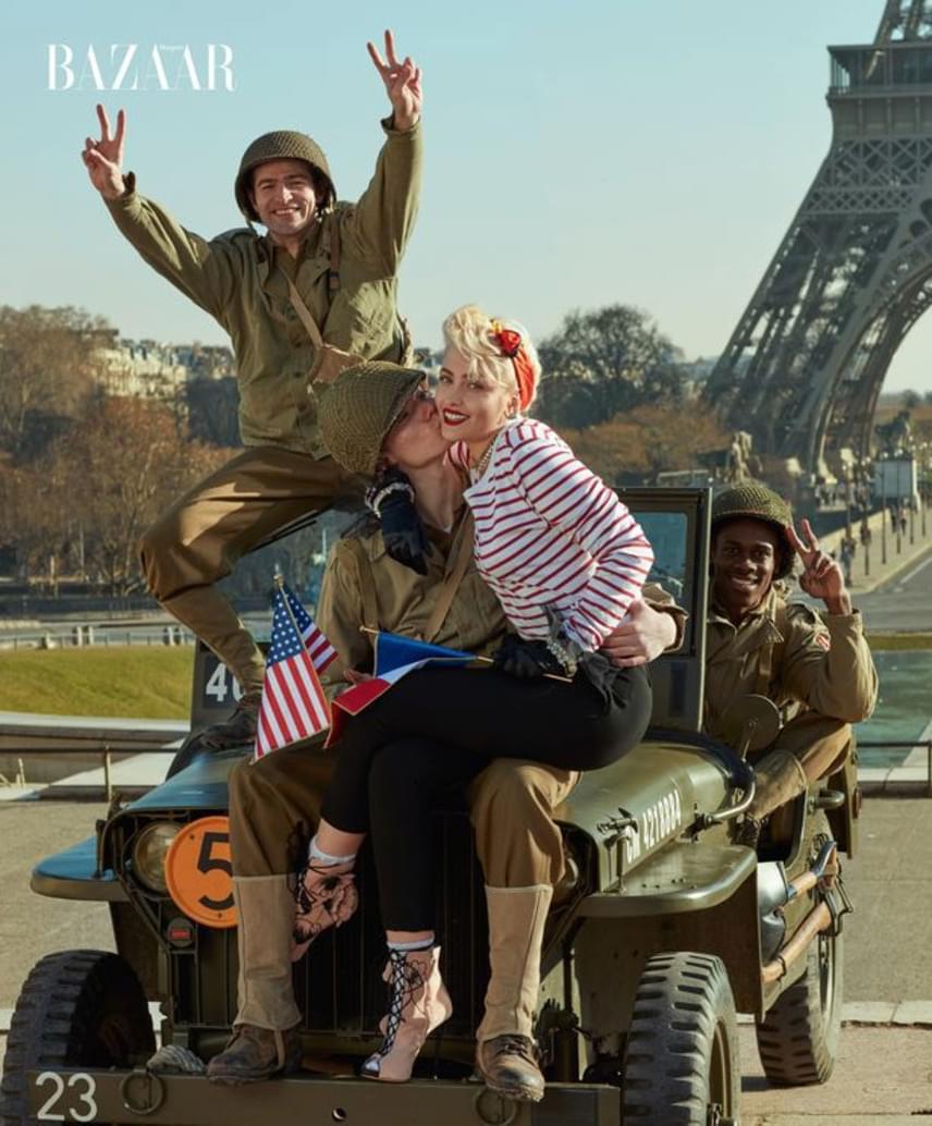 Tiszta retró feeling! A Madonna által inspirált fotósorozat hatalmas sikert aratott - a rajongók megőrültek Paris fotóiért. Ide kattintva megnézheted a többit is.
