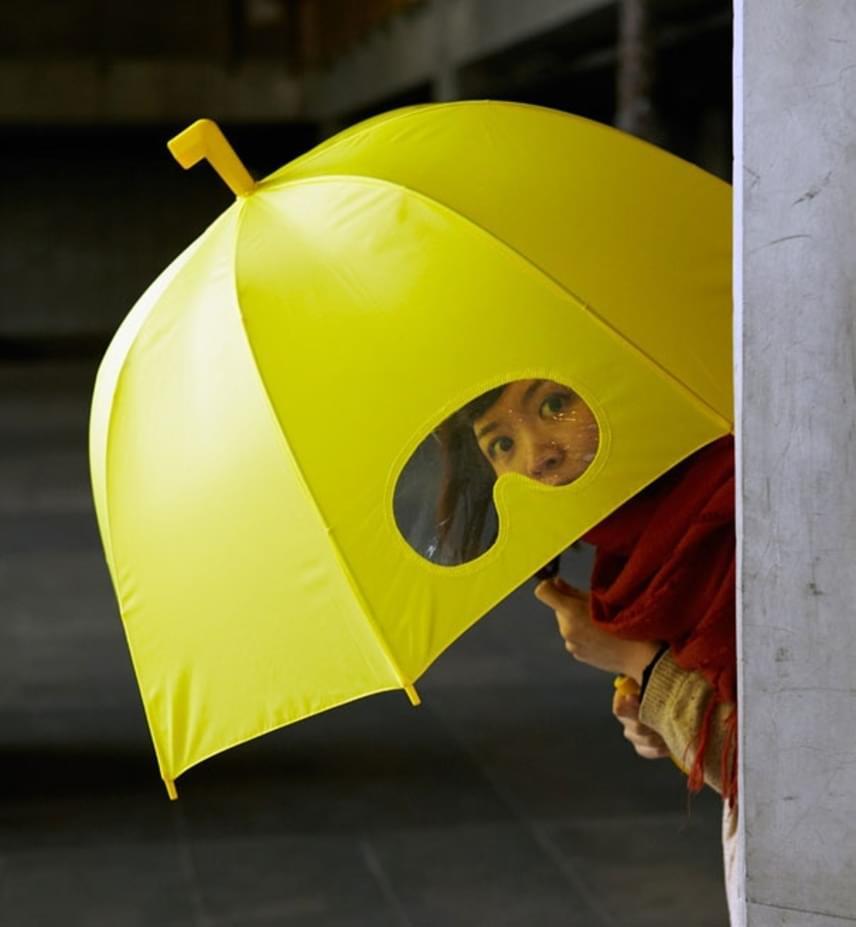 Aki ment már zuhogó esőben kezében tartva esernyőjét, az pontosan tudja, milyen zavaró, hogy nem lehet alóla kilátni. Ezzel az esernyővel már lesznek ilyen gondjaink.