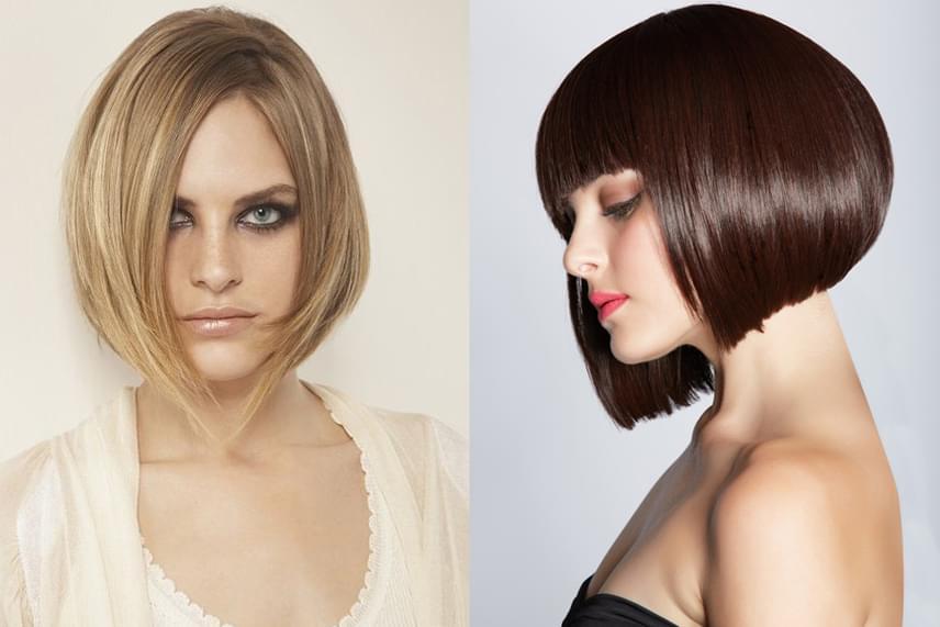 A bob frizurák félhosszú hajból is csinosak, arra viszont érdemes figyelni, hogy a kerek arcot inkább az áll vonalánál kicsivel hosszabb frizura nyújtja meg.