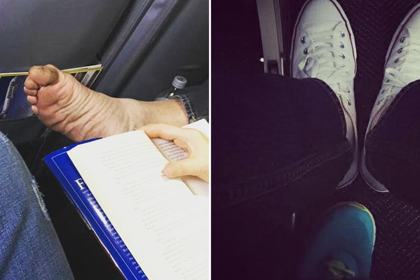 Az olvasnivalóba lógatott és a szék alatt áttolt láb is kimeríti a személyes tér zavarását.