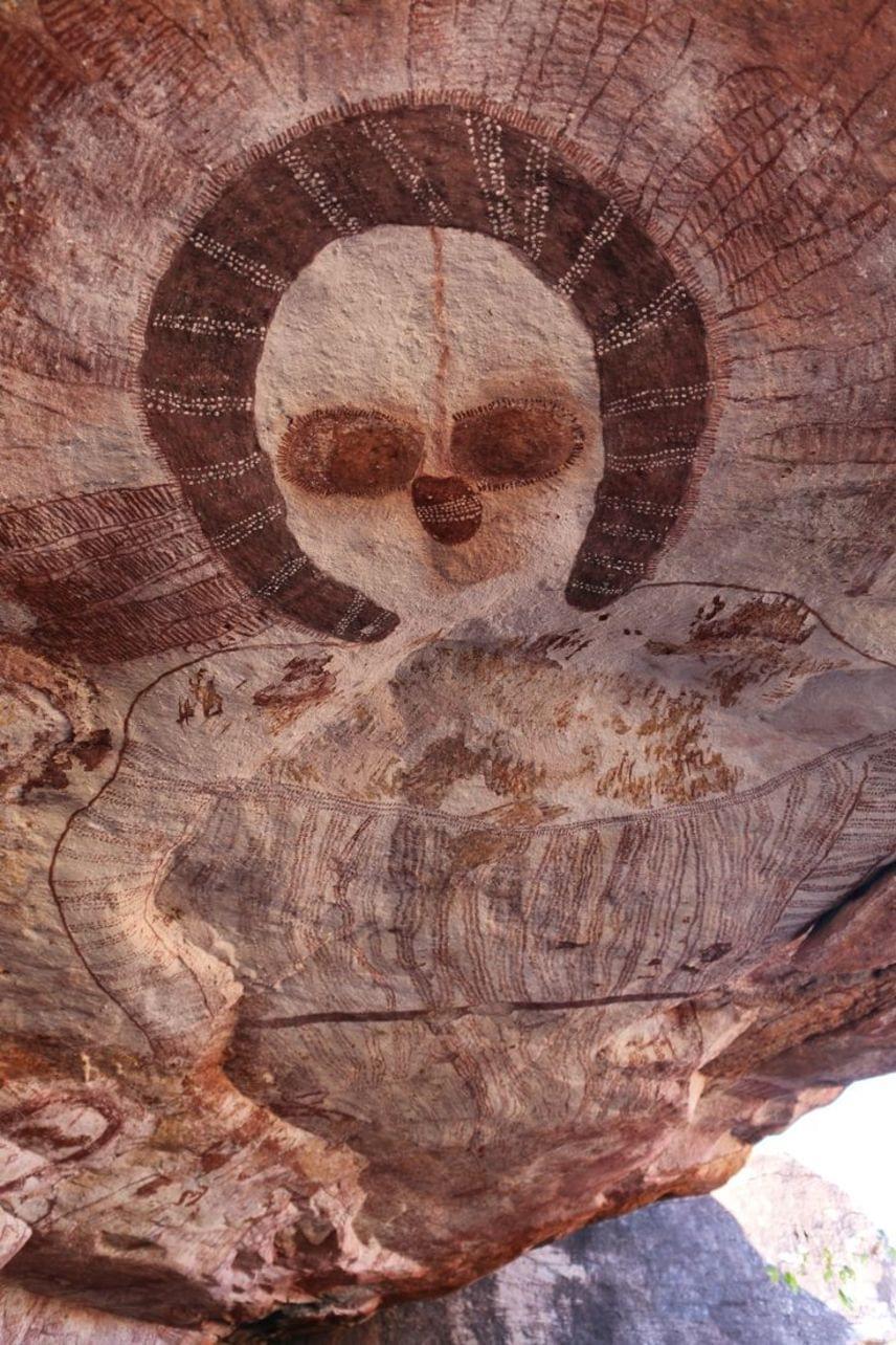 Kimberley, AusztráliaKr. e. 3000 körül készültek azok a festmények, amelyeket az ausztrál őslakosok csak Wandjinának neveznek.