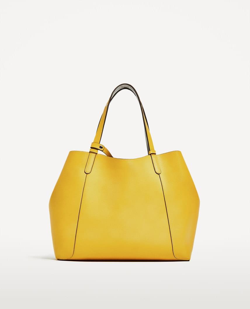 Idén nagyon divatos mustárszín a ruhákon és a kiegészítőkön egyaránt. A képen látható táskát a Zarában találod meg, a webshopban feltüntetett információk szerint 7995 forintért.
