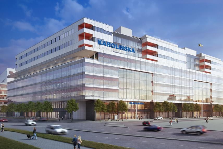 Szintén a legfelkészültebb kórházak közé tartozik a svédországi, stockholmi Karolinska kórház is, egyúttal ez a legkörnyezetbarátabb kórház a világon, energiaellátásának egy részét például szélturbinák és napenergia biztosítja.