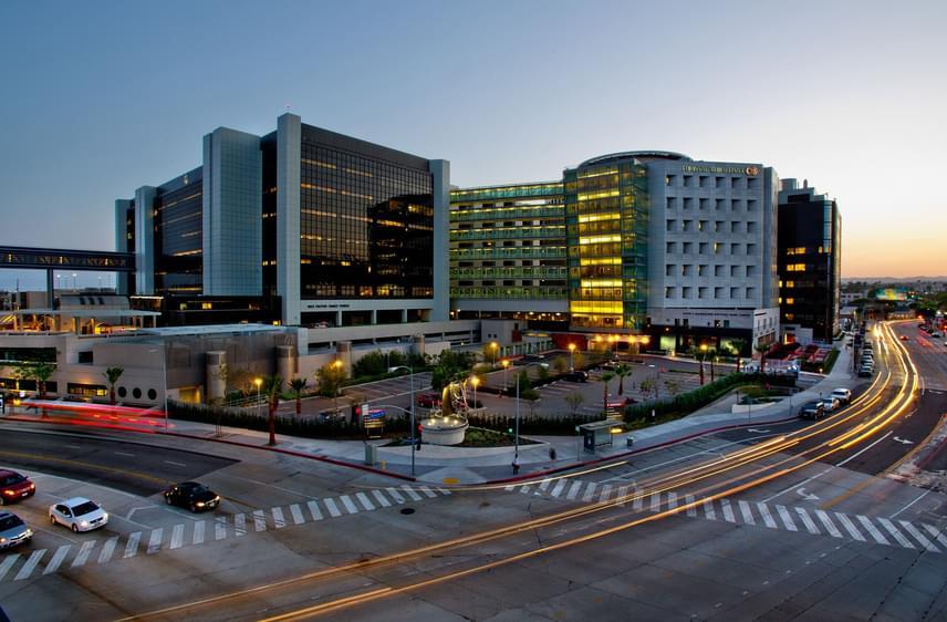 Az amerikai, Los Angeles-i Cedars-Sinai Medical Centert szintén az egyik legjobb kórháznak tartják, emellett a luxuskategória legfőbb képviselőjének, mely igen népszerű a hírességek körében is. A betegek luxusszobákban gyógyulhatnak, az ételeket séf készíti, és akár még Picasso-festményekben is gyönyörködni lehet.