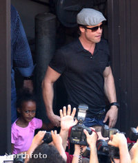Zahara és Brad Pitt Los Angelesben