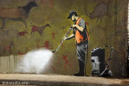 Graffiti eltakarítás