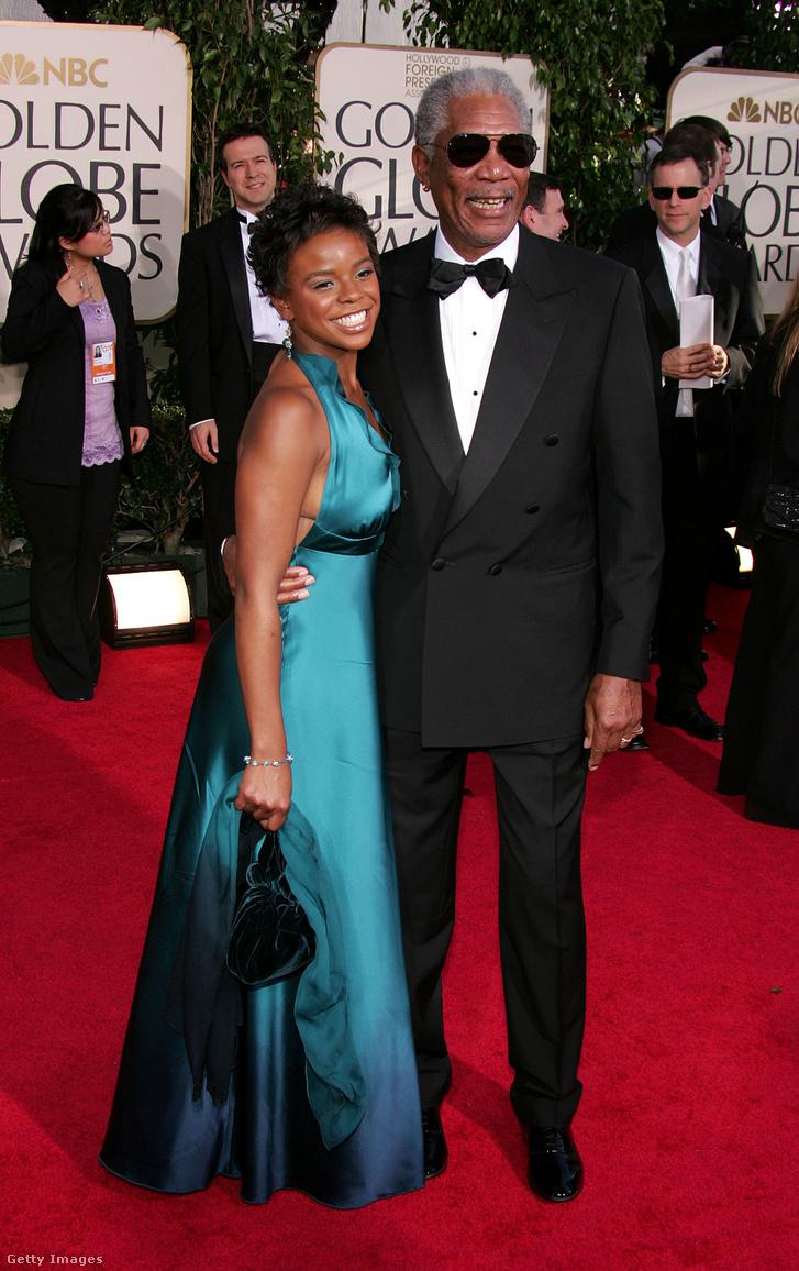 Morgan Freeman és E'Dena Hines 2005-ben, a Golden Globe átadóján