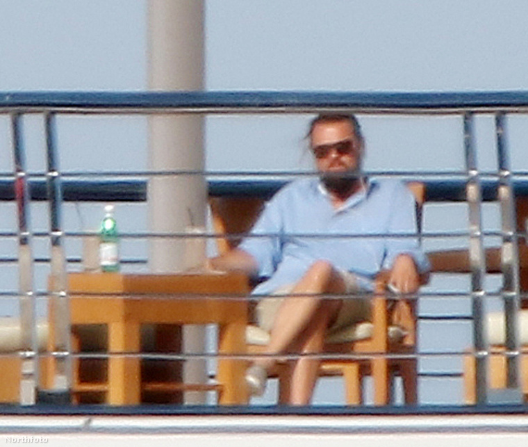 DiCaprio egy jachton.