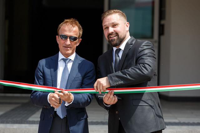 Peter Burkhard (svájci nagykövet) és Szitka Péter (Kazincbarcika polgármestere)