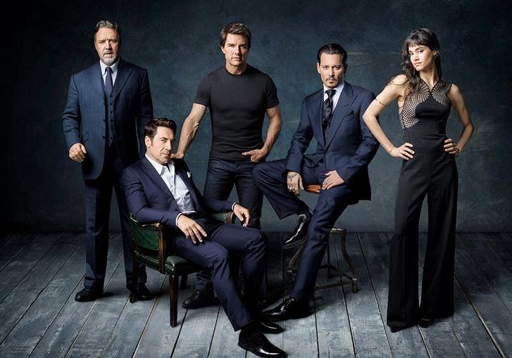 Russel Crowe, Javier Bardem, Tom Cruise, Johnny Depp és Sofia Boutella