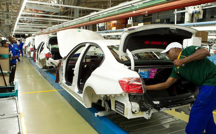 Életkép a BMW rosslyni gyártósoráról