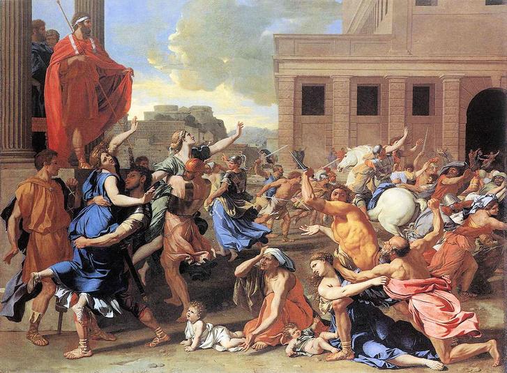 Nicolas Poussin: Szabin nők elrablása, 1638