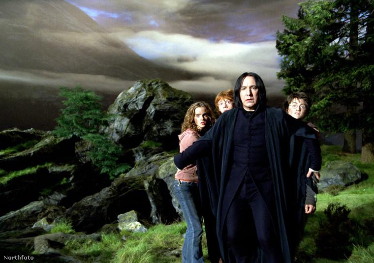 Harry Potterék és Perselus Piton.