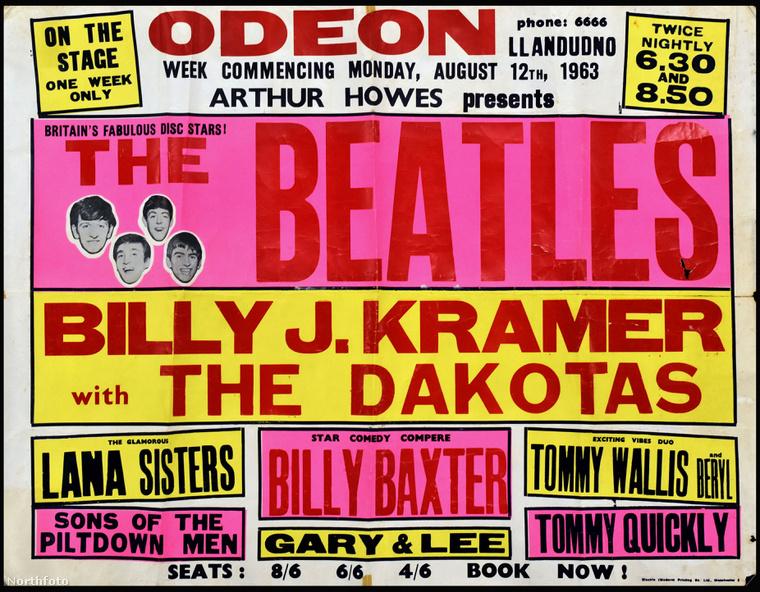 A zenekar plakátja 1963 augusztusából.