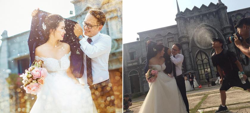 Első ránézésre egy gyönyörű esküvői kép, de a színfalak mögött már nem is olyan gusztusos az egész.