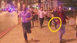 Sörét szorongatva helyezte magát biztonságba egy férfi a londoni merénylet során