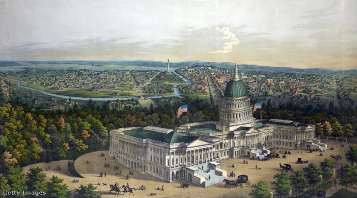 Washington látképe a század elején