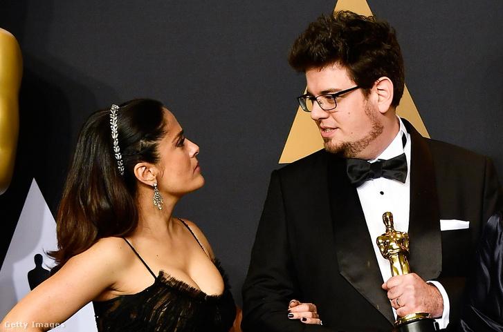 Salma Hayek és Deák Kristóf az Oscar-átadón
