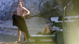 Kilesték Heidi Klum pasijának meztelen felsőtestét