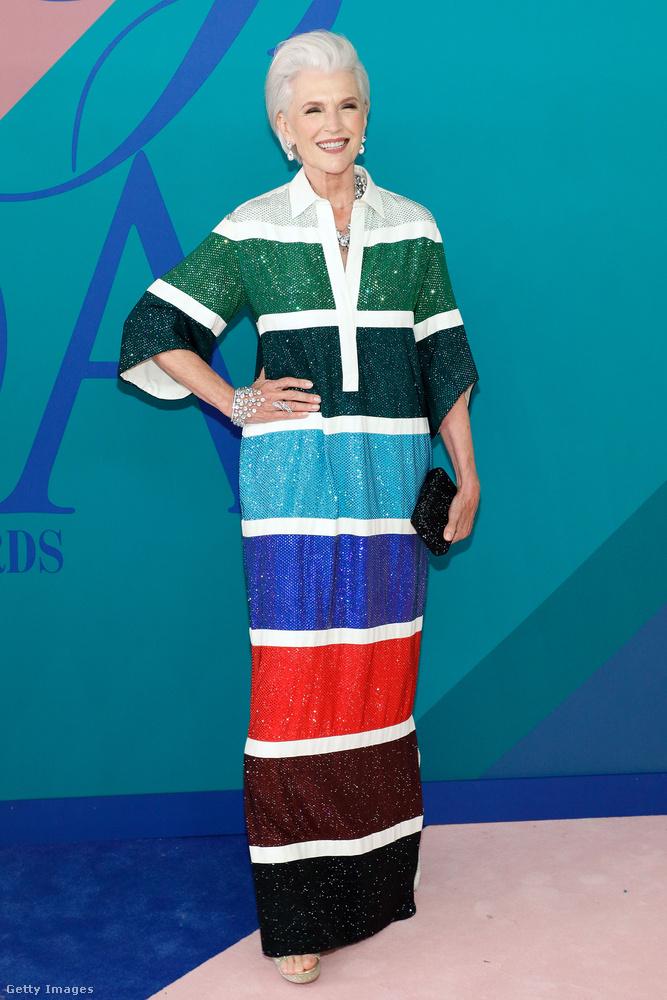 Maye Musk például szintén egy modell, de tekintettel arra, hogy jövőre tölti be 70