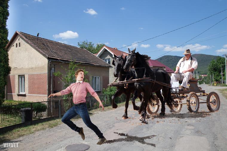 Az ormánsági férfi egy lovaskocsi elől menekült a saját falujában.