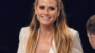 Heidi Klum egy teljes szezonnyi ruhát felpróbál, de a végén meztelen maradt