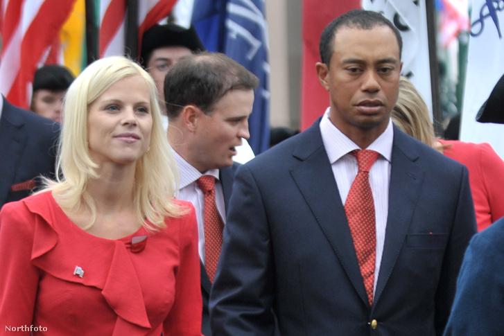 Elin Nordegren és Tiger Woods 2009-ben