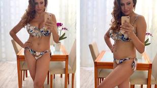 Instahíradó: Horváth Éva bikiniben demonstrálta szülés utáni alakját
