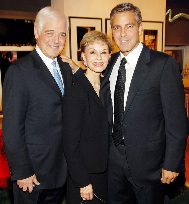 George Clooney szüleivel, Nick és Nina Clooney-val