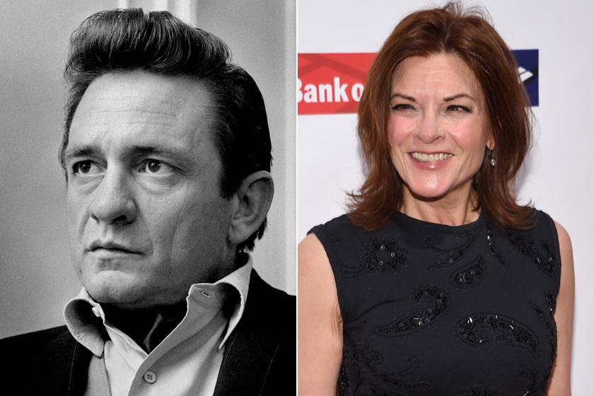 Johnny Cash és lánya, Rosanne.
