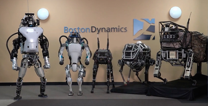 A Boston Dynamics Atlasz sorozatának modelljei