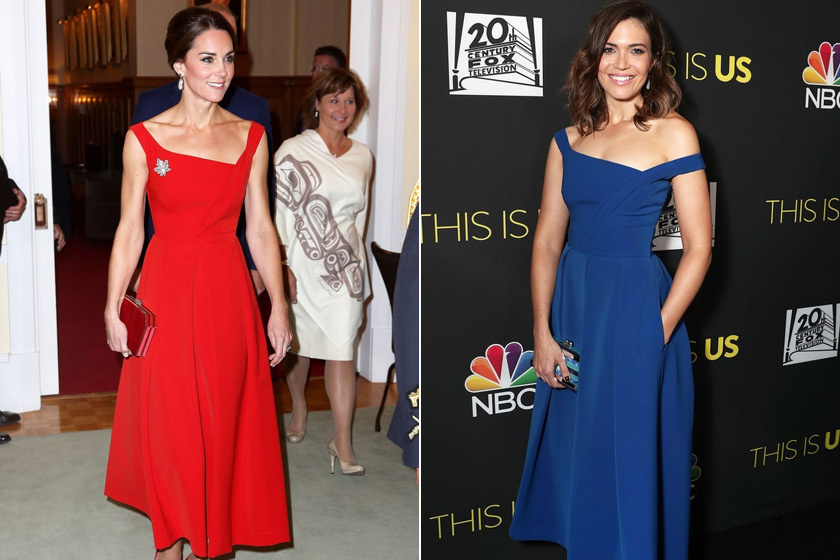 Katalin hercegné kanadai útja során viselte ezt egy csinos ruhát, míg Mandy Moore a tegnap esti ünnepségen.