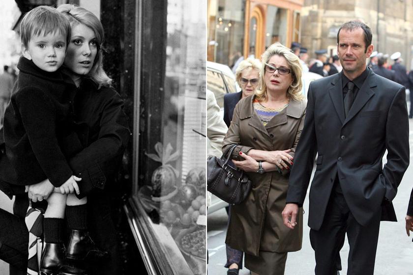 Catherine Deneuve és fia, Christian Vadim a hatvanas években és napjainkban, 55 éves korában.
