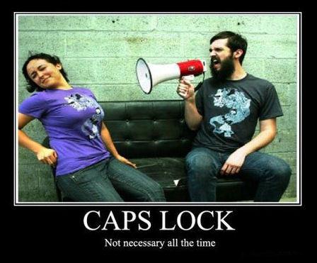 caps lock unnecessary