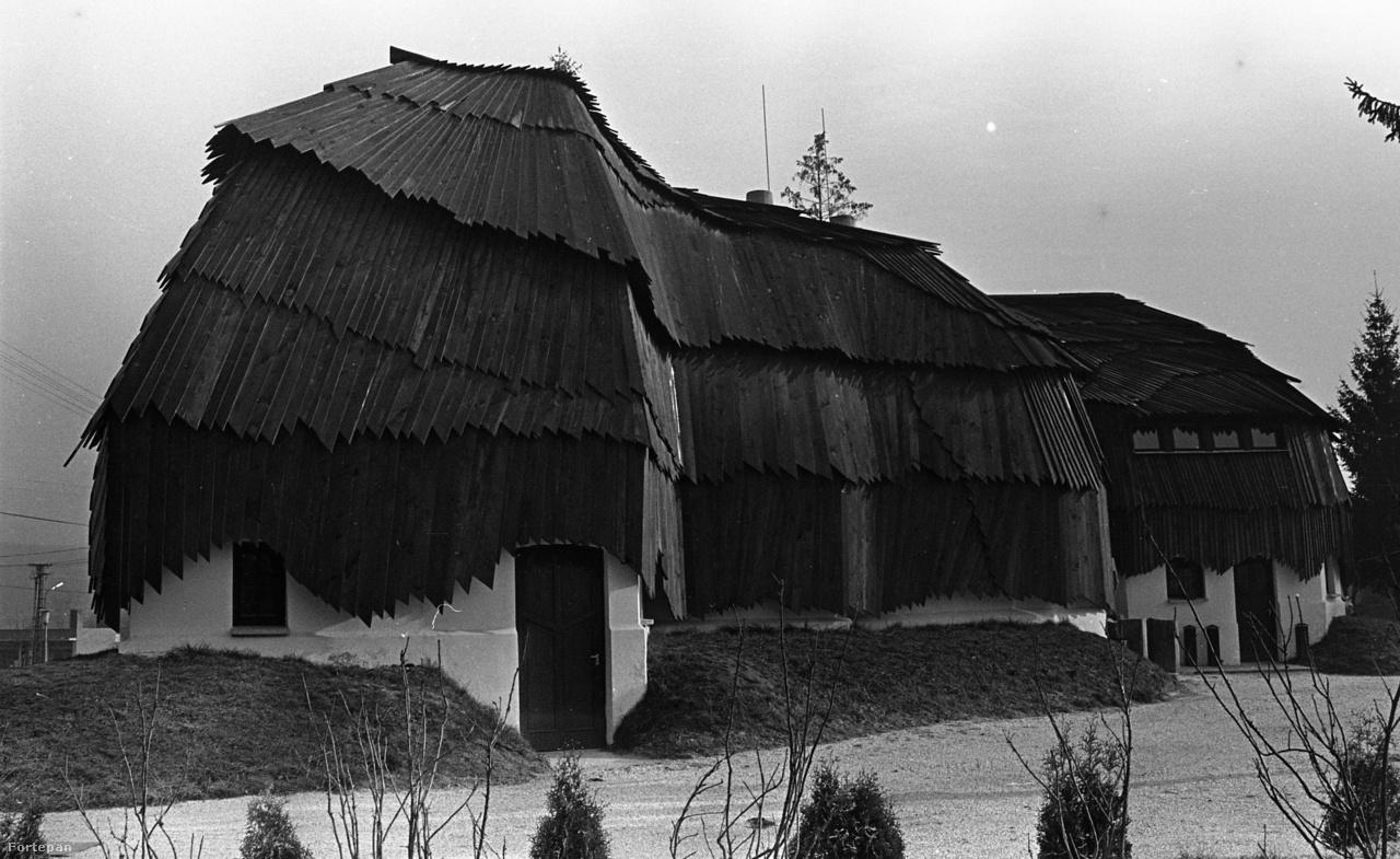 Hatalmas, lomha madár is lehetne zsindelytollakkal, de Makovecz Imre legjobb organikus formái soha nem egyértelmű leképezései valaminek. A baki faluházról eszünkbe juthat egy szénaboglya vagy egy szép farakás is.