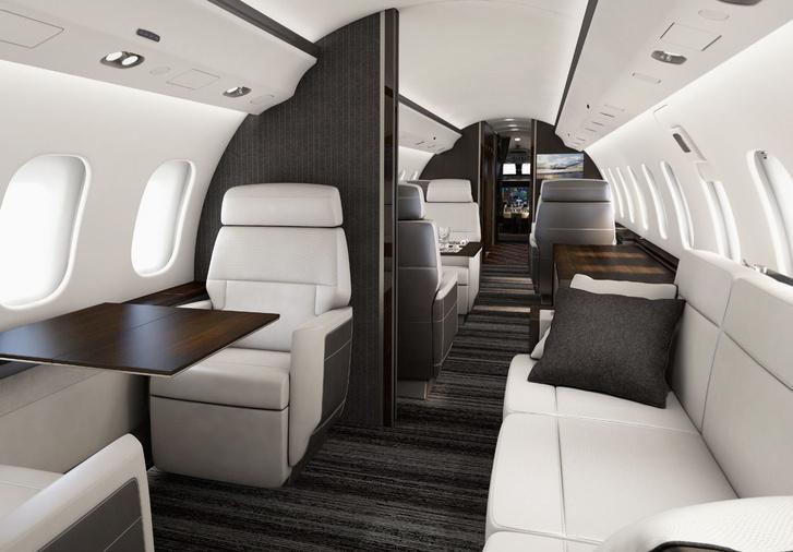 Így néz ki belülről egy Bombardier 6000 a gyártó prospektusa szerint.