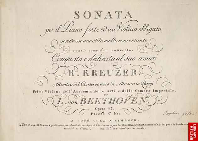 A Kreutzer szonáta első kiadása opusz 47
