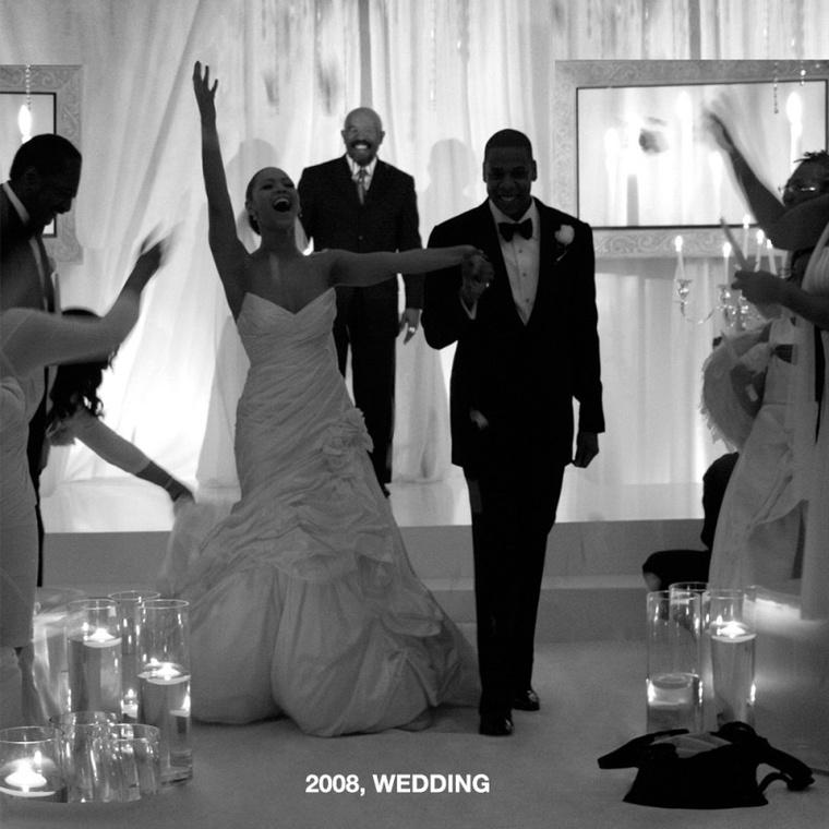 2008-ban így kelt egybe Beyoncé és Jay-Z.