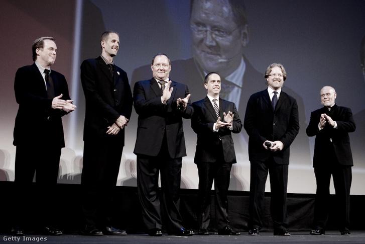 Andrew Stanton, Pete Docter, John Lasseter, George Lucas, Lee Unkrich és Brad Bird a 66. Velencei Filmfesztiválon, ahol életműjűkért kapták meg az Arany Oroszlánt.