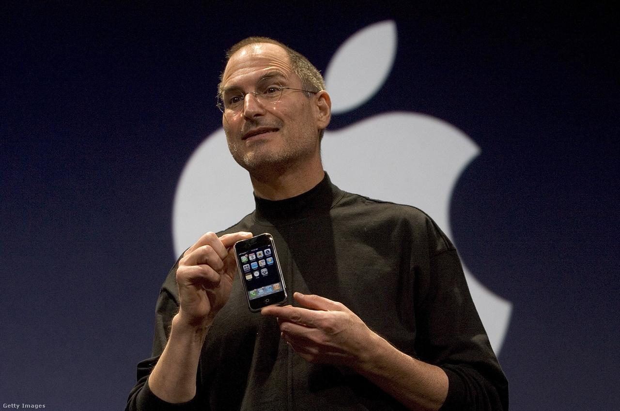 Steve Jobs, 2007-ben az első iPhone bejelentésekor.