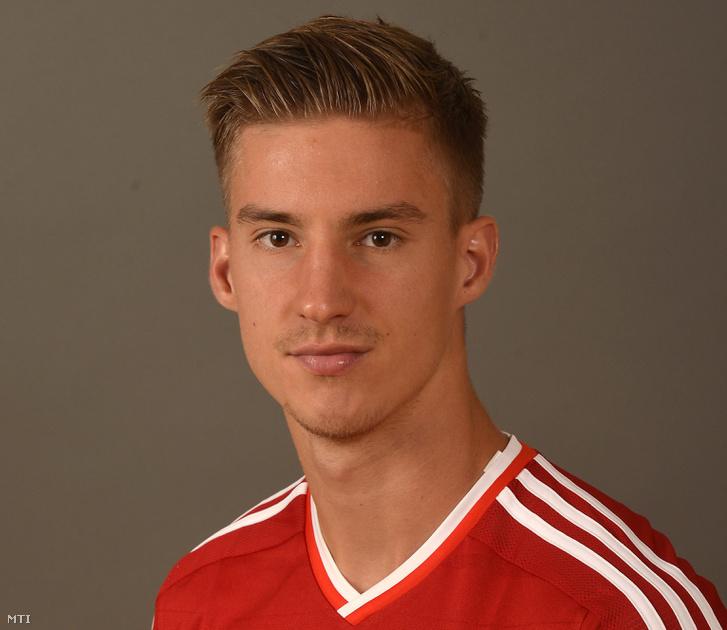 Balogh Balázs a magyar labdarúgó-válogatott tagja Telkiben 2014. szeptember 2-án.