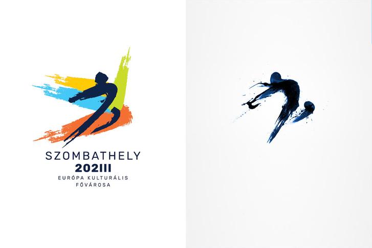 Balra a Baán Zoltán tervezte logó, jobbra Nathan Trafford austini grafikus 2012-es logóterve