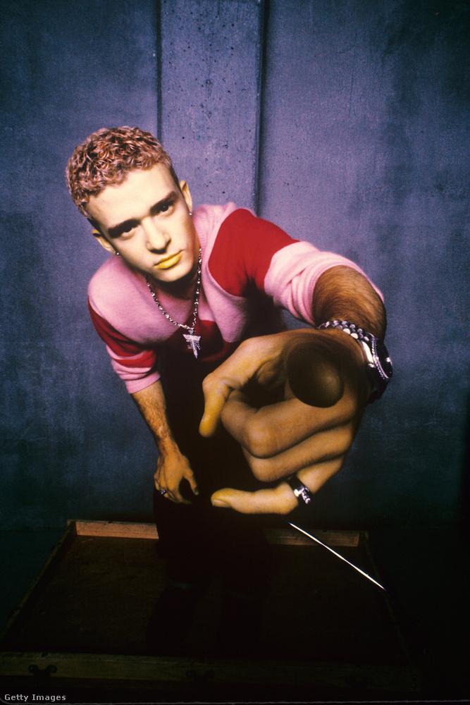 a fiatal Justin Timberlake-re.