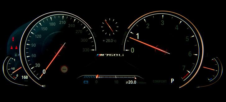 Az Exellence felszereltség része, hogy az óra skálája 330- helyett csak 280-at mutat