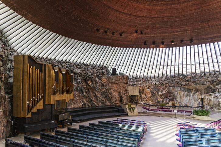 A Temppeliaukio belső tere