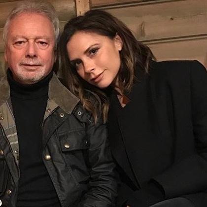 Victoria Beckham szerényen biztosította édesapját, hogy nagyon szereti.