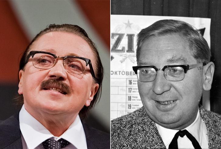Csákányi Eszter a Titkaink című előadásban és Csákányi László 1963-ban