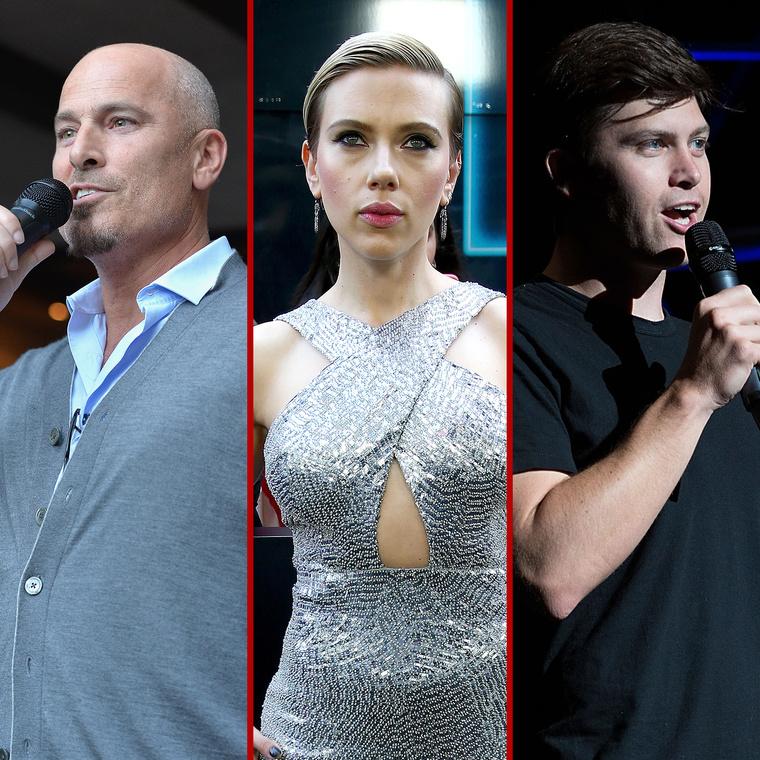 Személyek balról jobbra: Kevin Yorn, Scarlett Johansson (ki gondolta volna?) és Colin Jost.