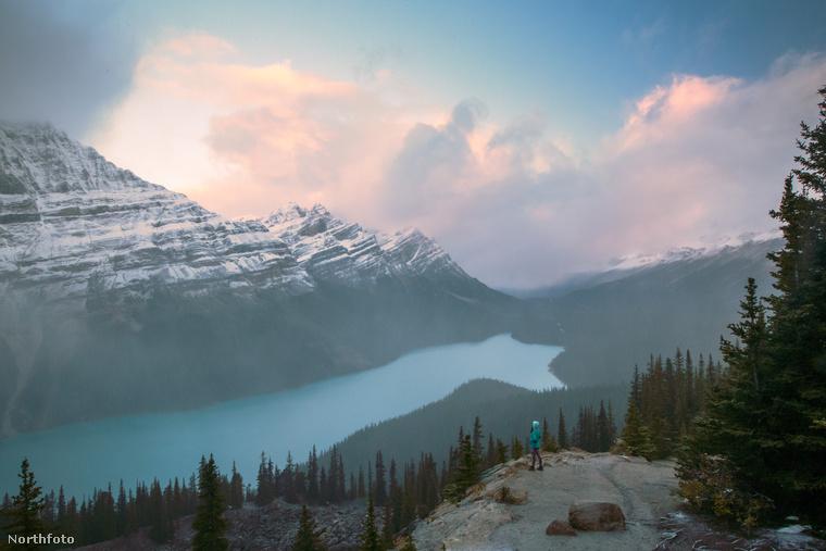 Ez pedig egy kanadai tó, a Peyto.