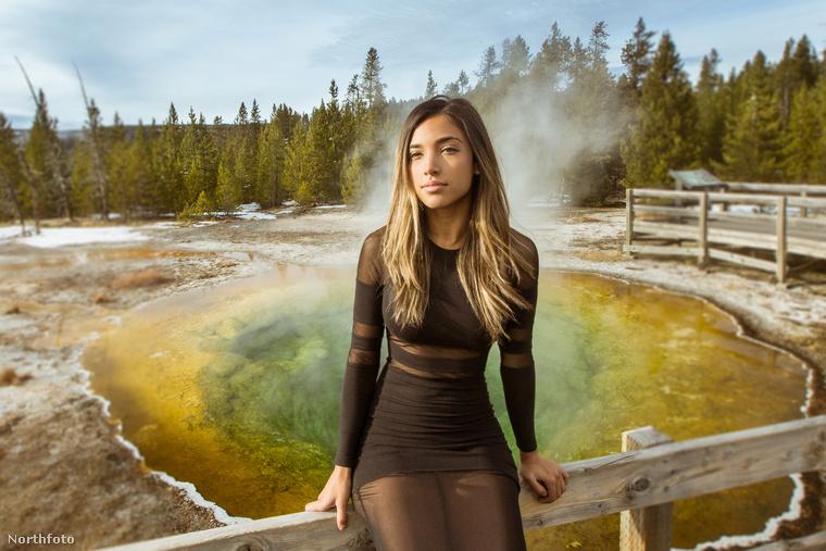 Ez a fotó a Yellowstone Nemzeti Parkban készült.
